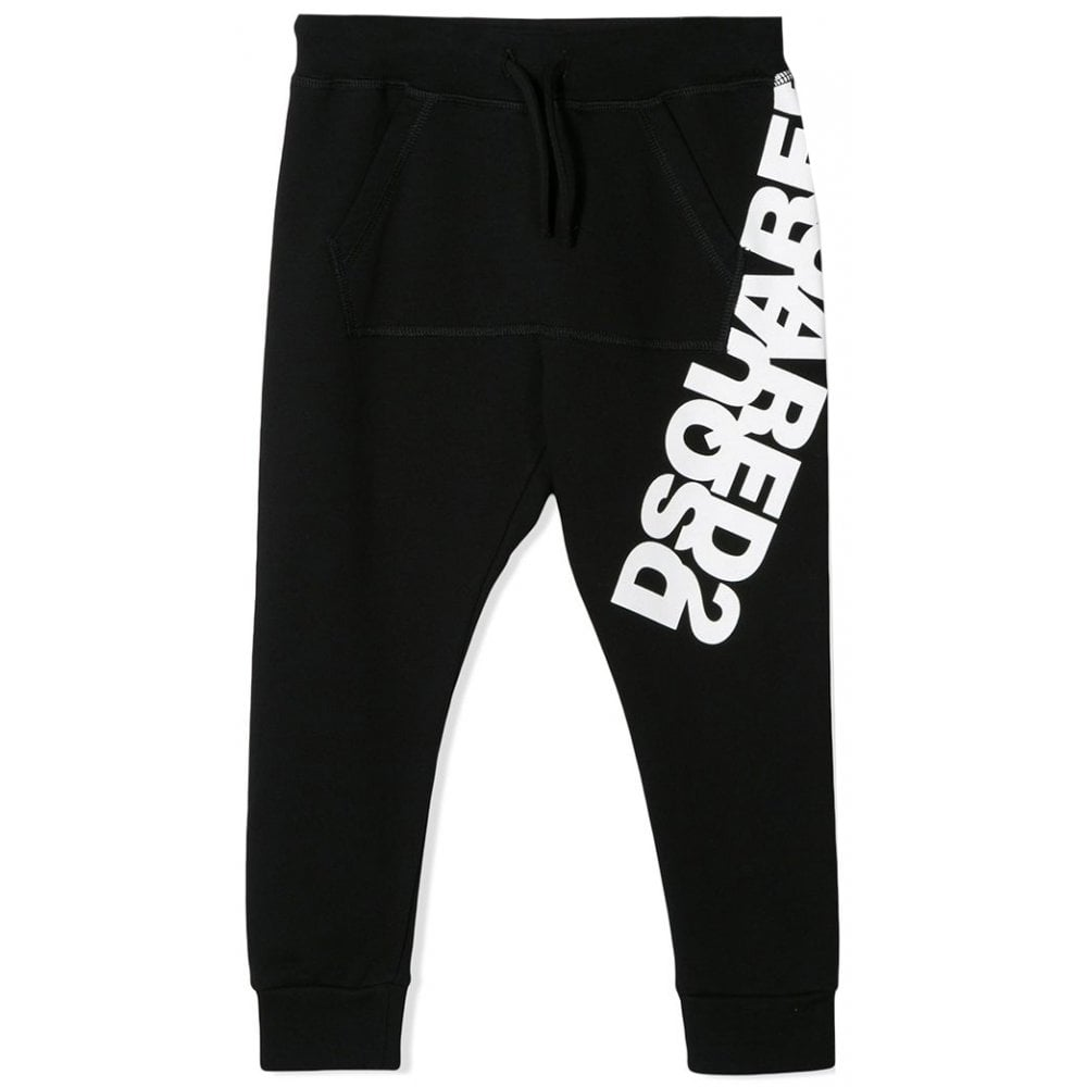 Dsquared2 Logo Joggers Colour: BLACK, Size: 14 YEARS