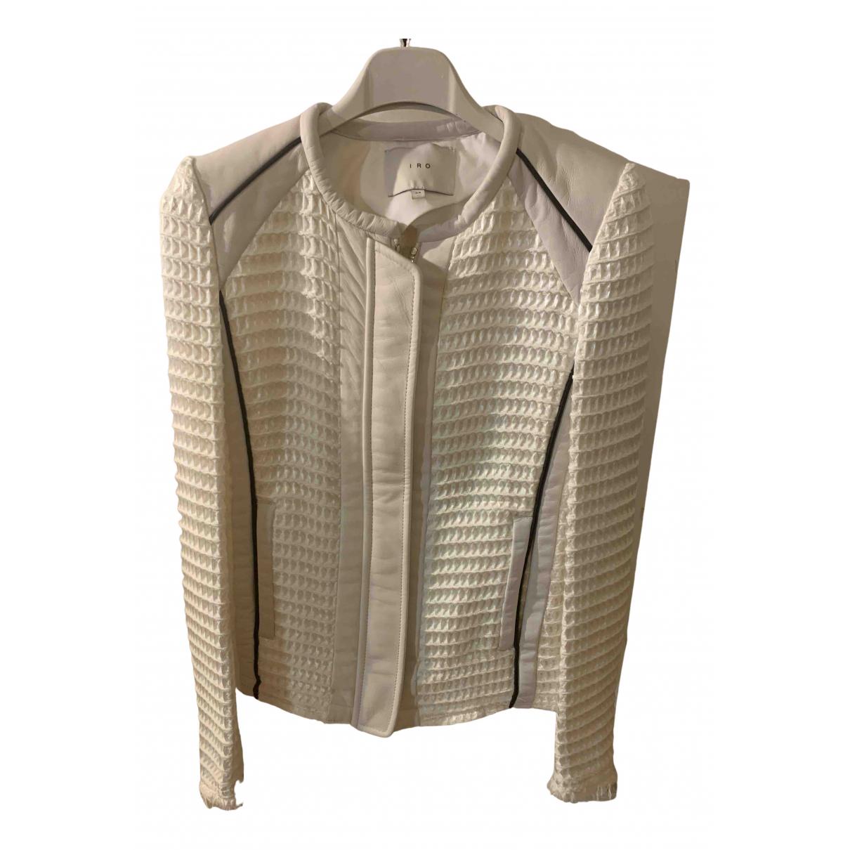 Iro - Blouson   pour femme en cuir - beige