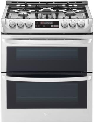 LTG4715ST Slide-In Gas Range with Double Ovens  ProBake  Self EasyClean  and 6.9 cu. ft. Capacity  in Stainless