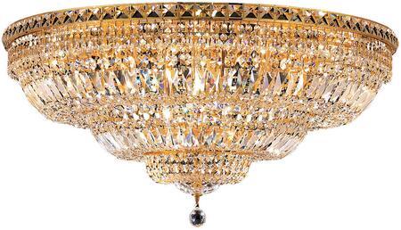 V2528F36G/SS 2528 Tranquil Collection Flush Mount D:36In H:16In Lt:21 Gold Finish (Swarovski   Elements