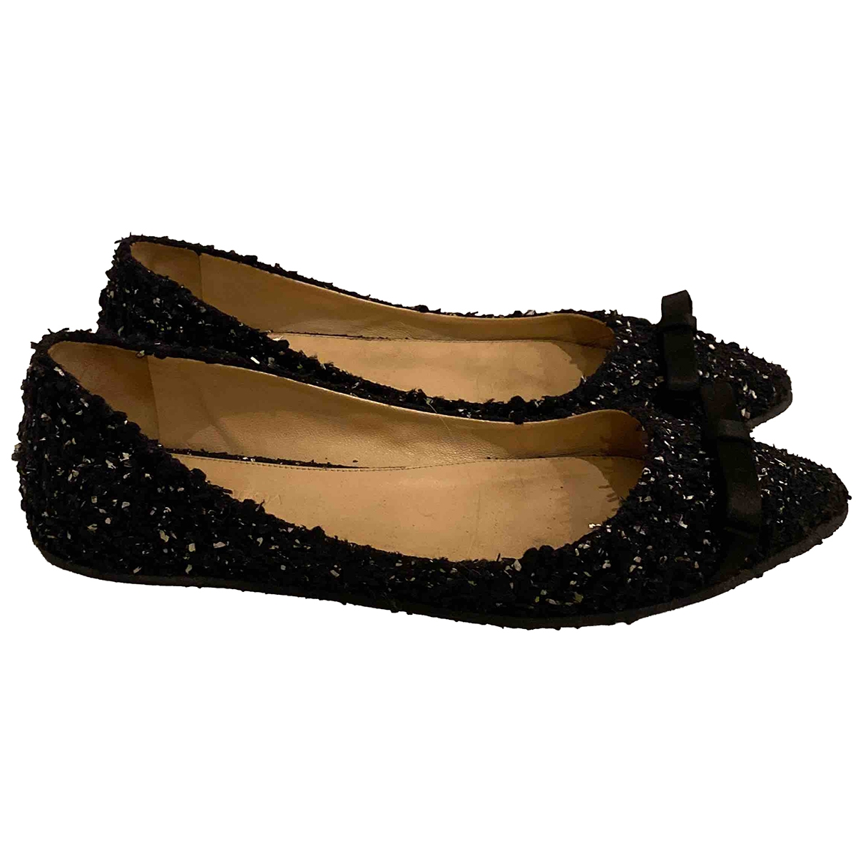 Giambattista Valli \N Ballerinas in  Schwarz Tweed