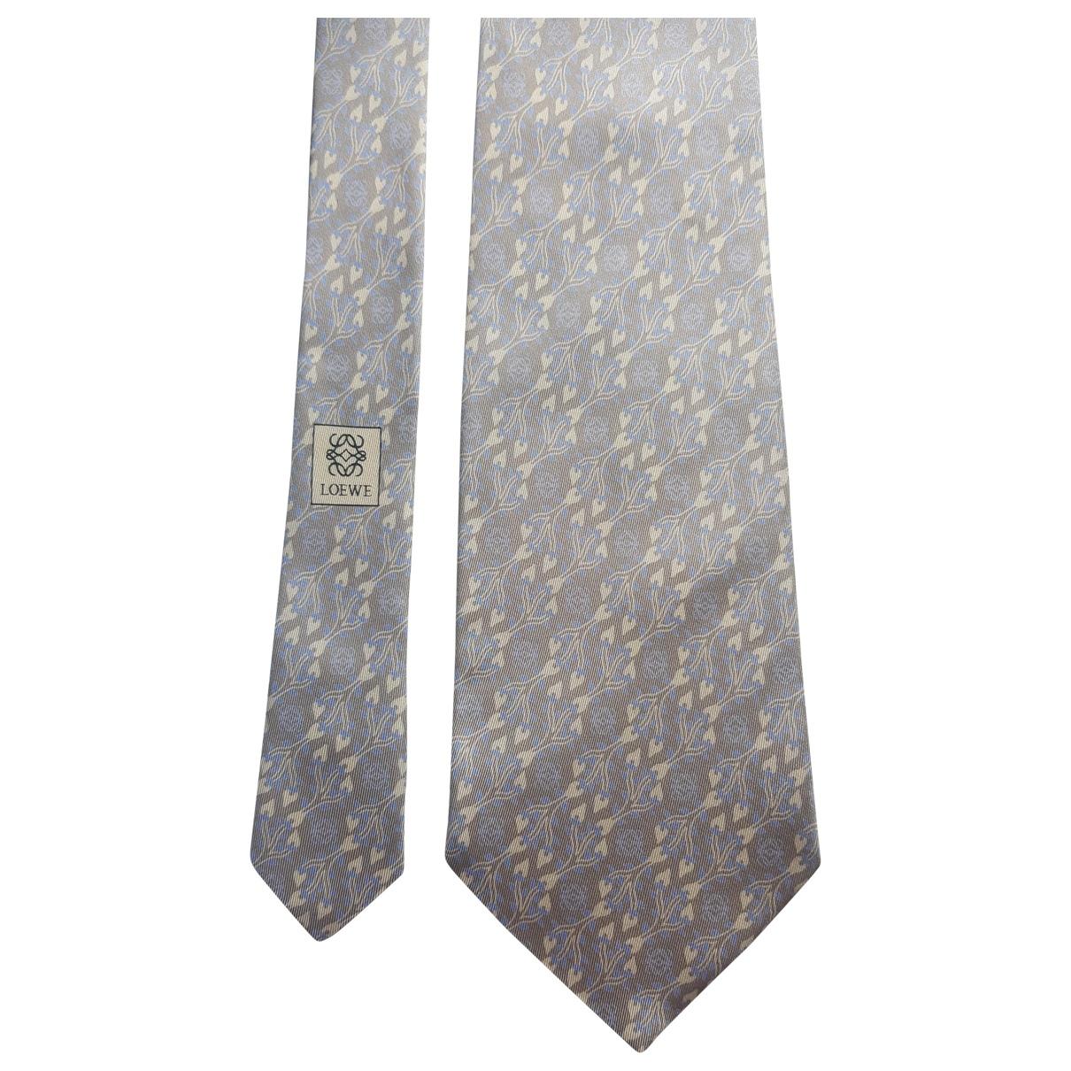Loewe \N Krawatten in  Grau Seide