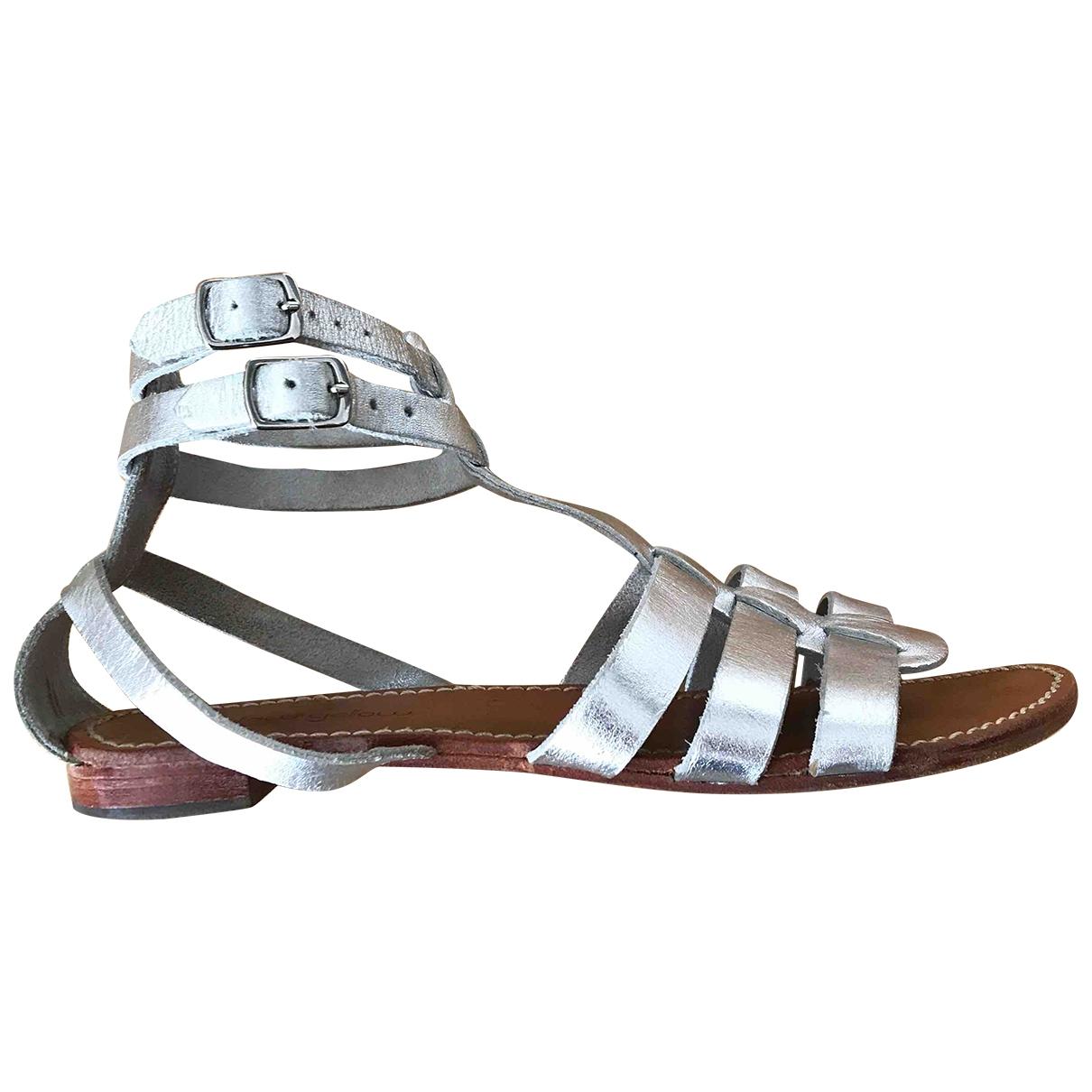 Mellow Yellow \N Metallic Leather Sandals for Women 37 EU