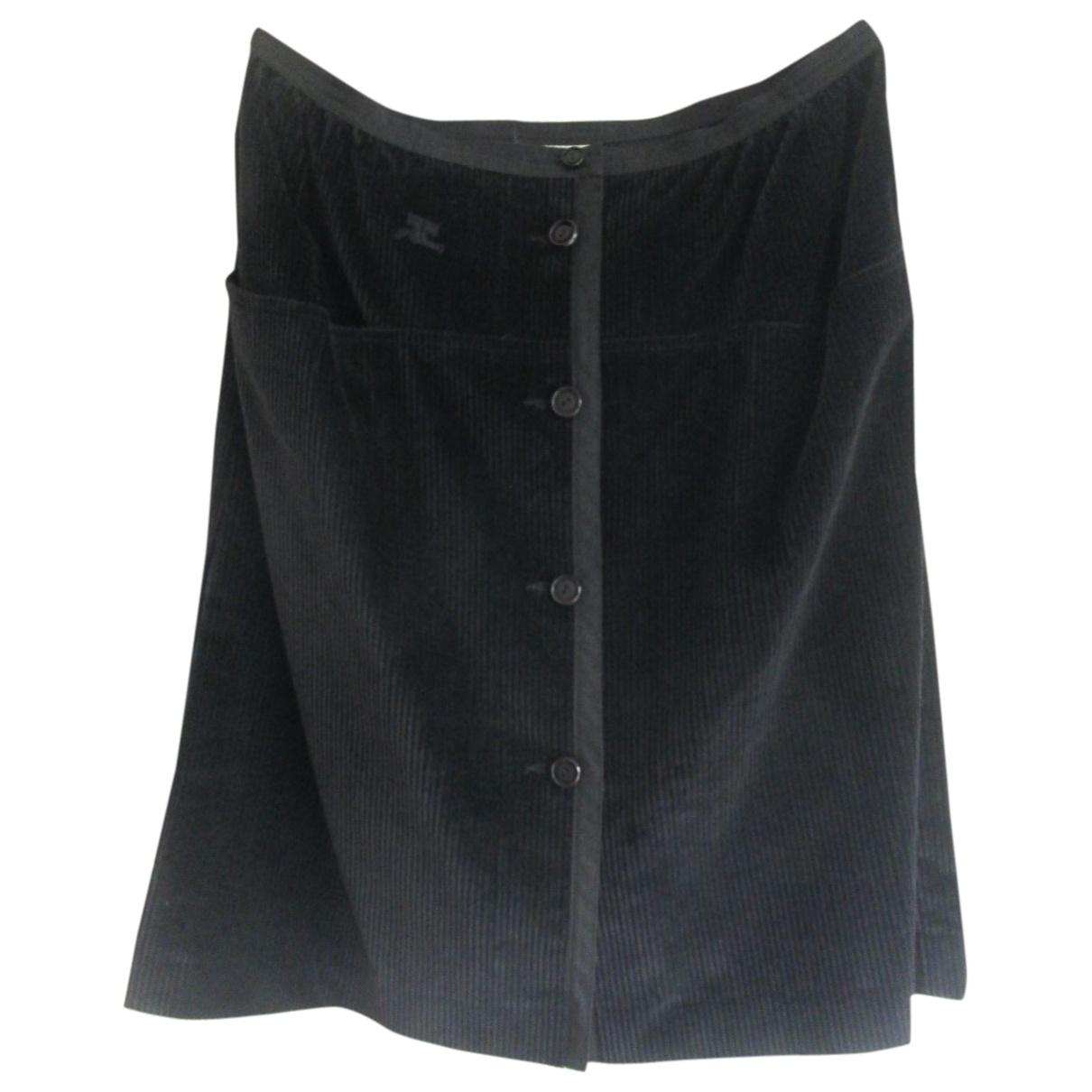 Courreges - Jupe   pour femme en coton - anthracite