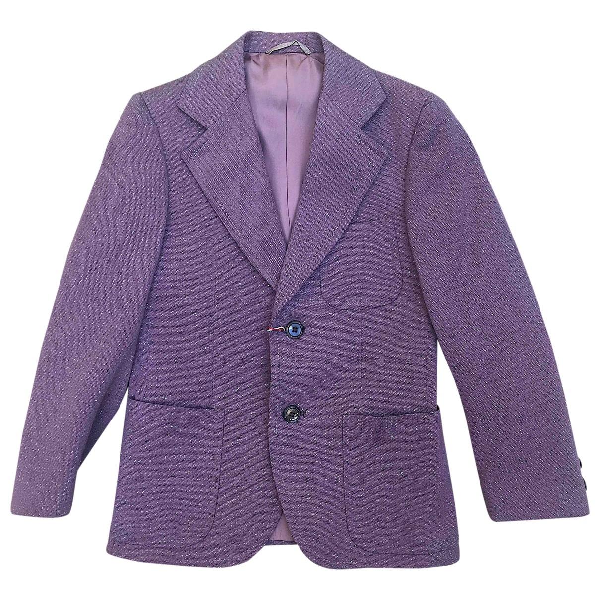 - Blousons.Manteaux   pour enfant en laine - violet