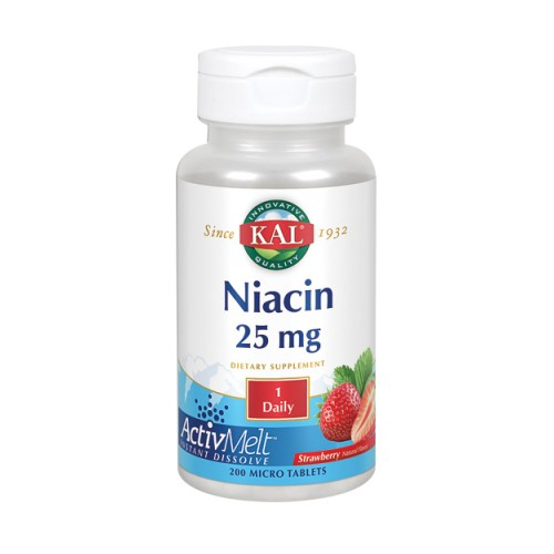 Niacin ActivMelt Strawberry 200 Count by Kal