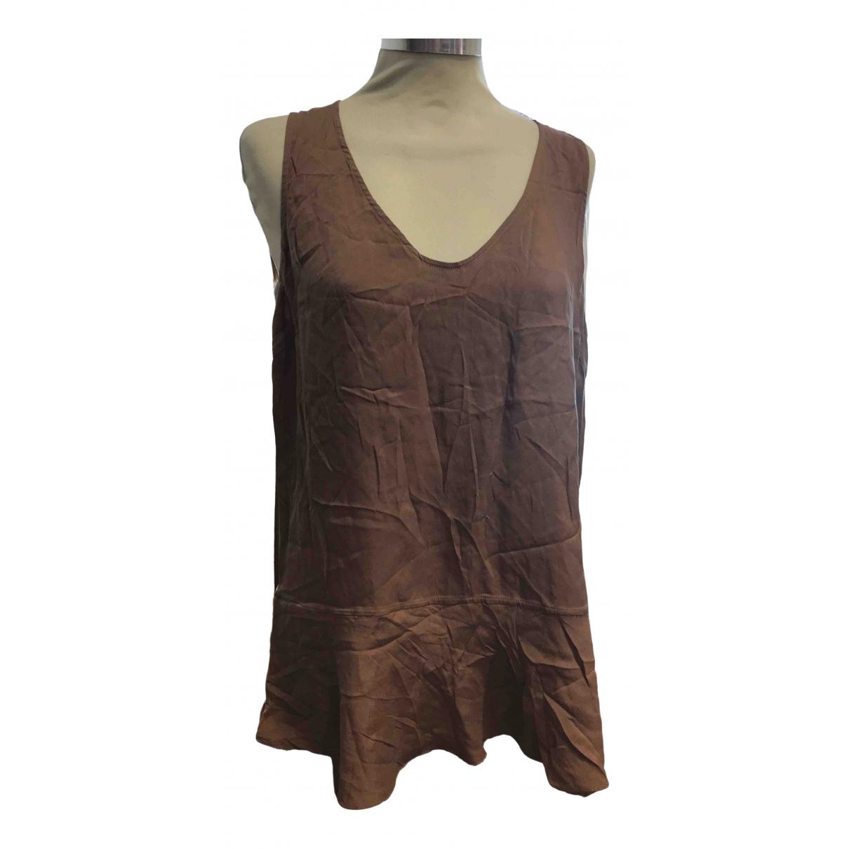 Brunello Cucinelli \N Brown Silk  top for Women 46 IT