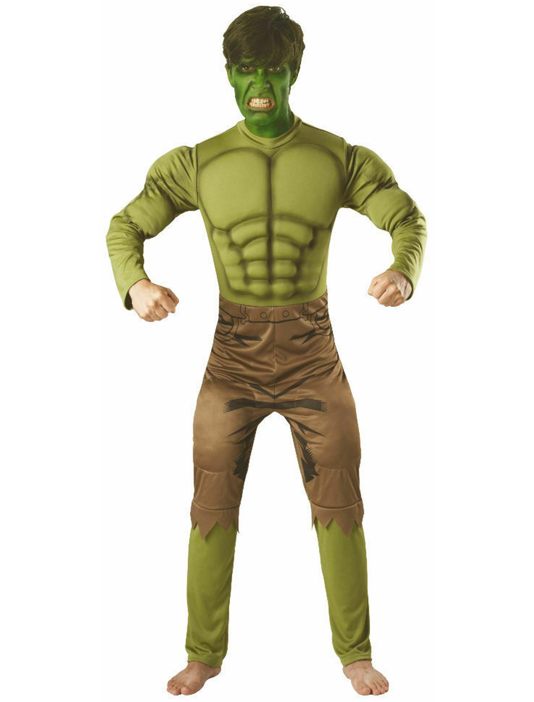 Herren-Kostuem Hulk deluxe Erwachsene STD Grosse: Standard / STD