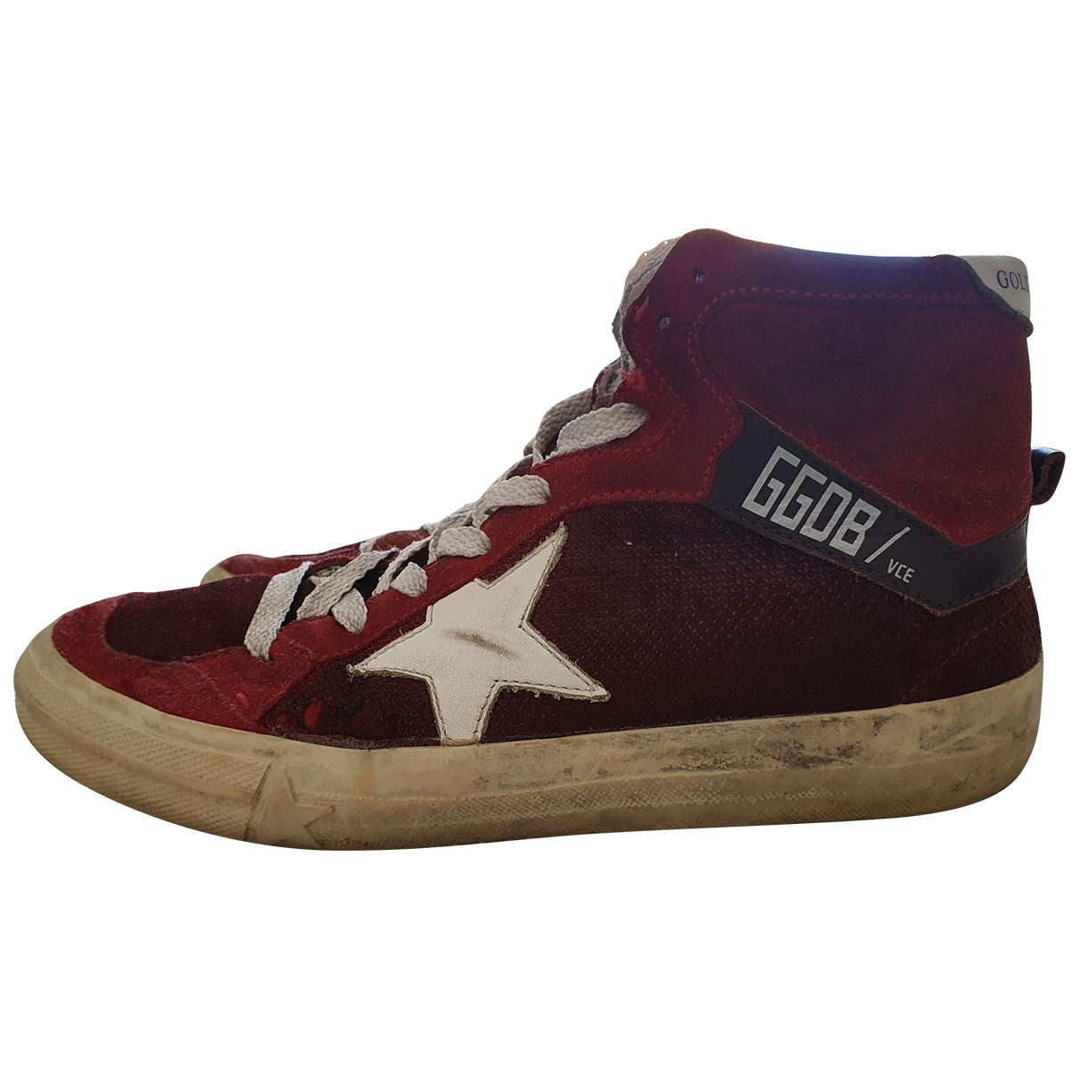 Golden Goose 2.12 Red Leather Trainers for Women 37 EU