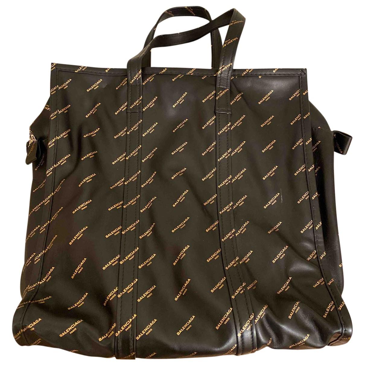 Balenciaga - Sac a main Bazar Bag pour femme en cuir - noir