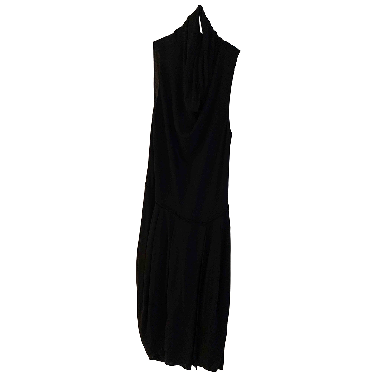 Donna Karan \N Kleid in  Schwarz Viskose