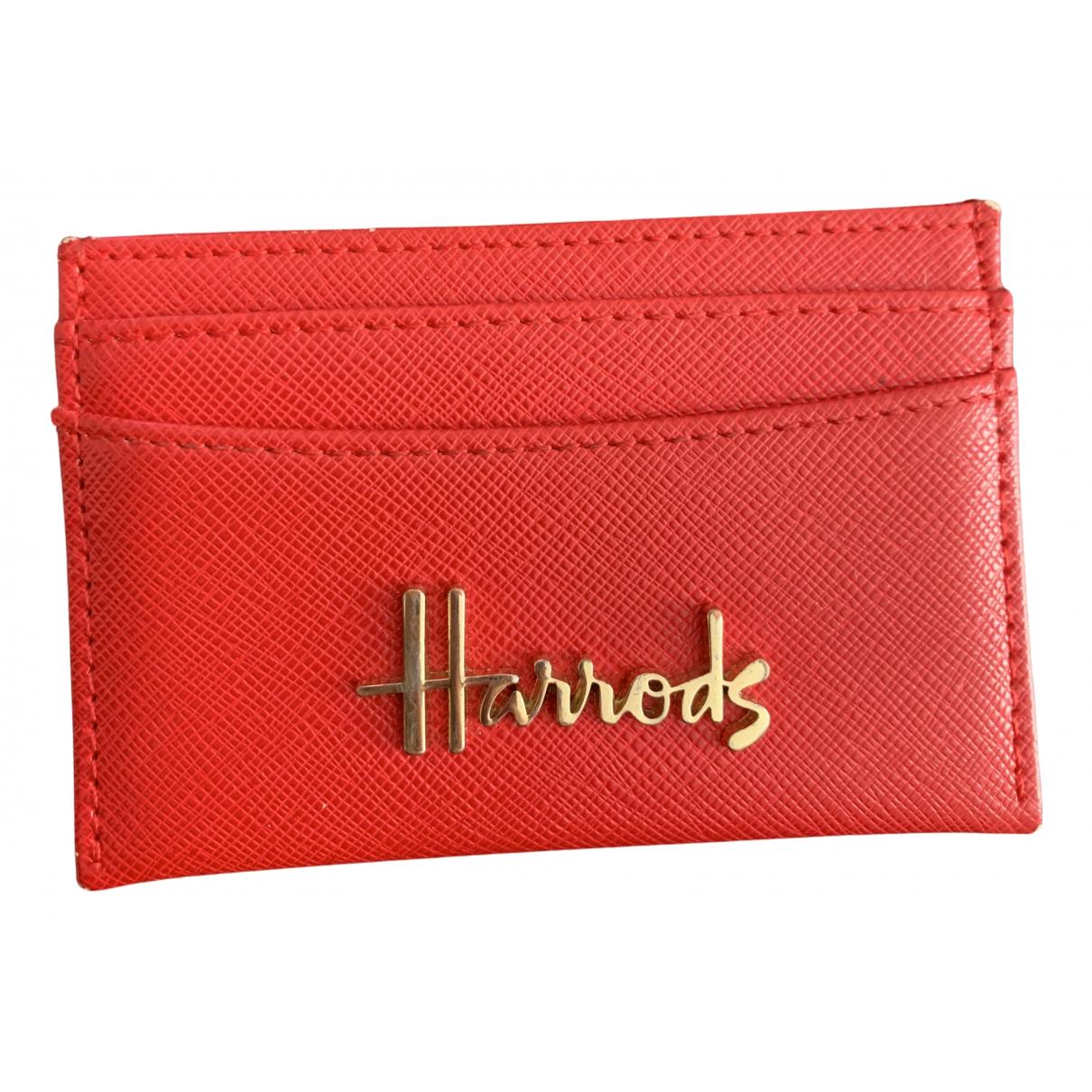 Harrods - Portefeuille   pour femme en cuir - rouge