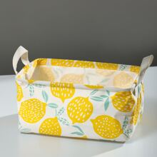 Lemon Print Storage Basket