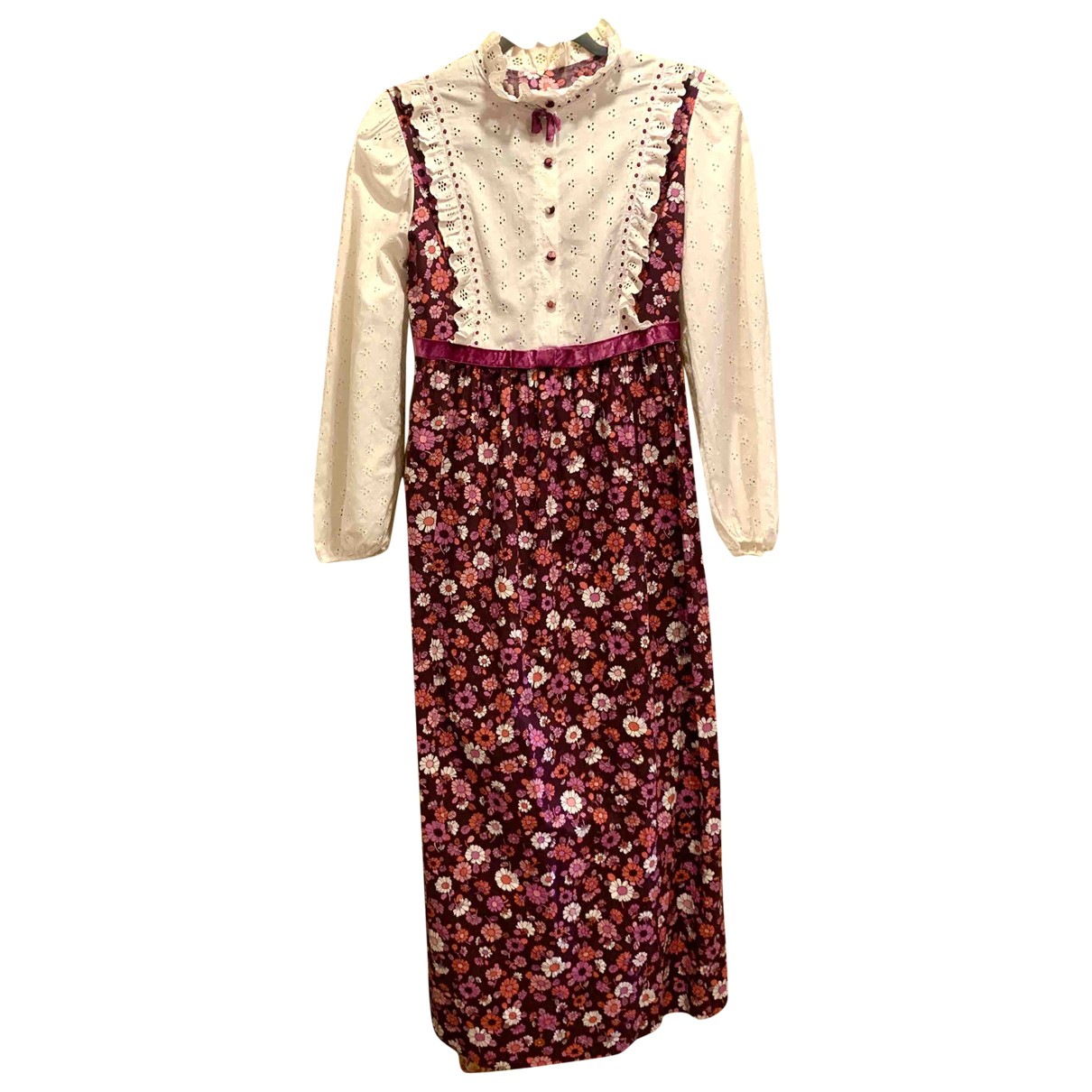 Non Signé / Unsigned Hippie Chic Pink Cotton dress for Women 10 UK