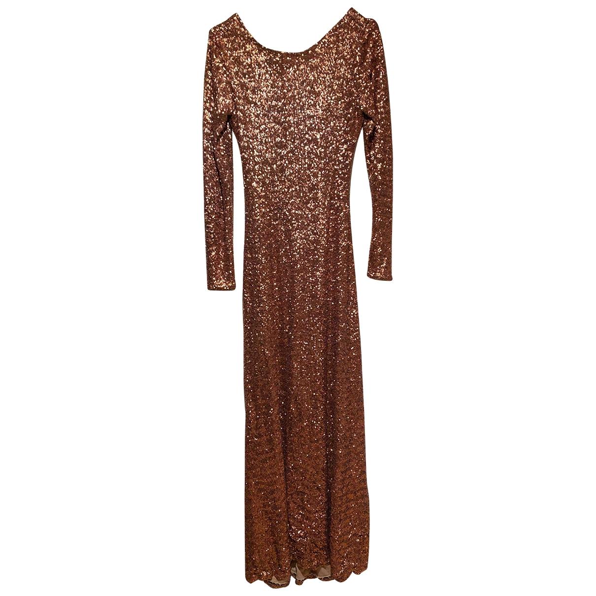 - Robe   pour femme en a paillettes - marron