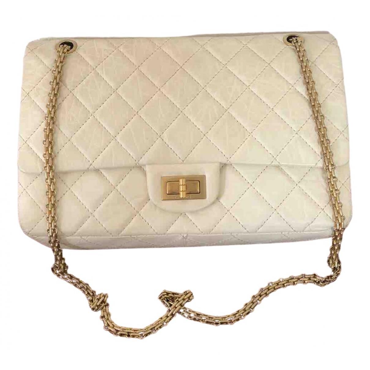 Chanel 2.55 Handtasche in  Weiss Leder