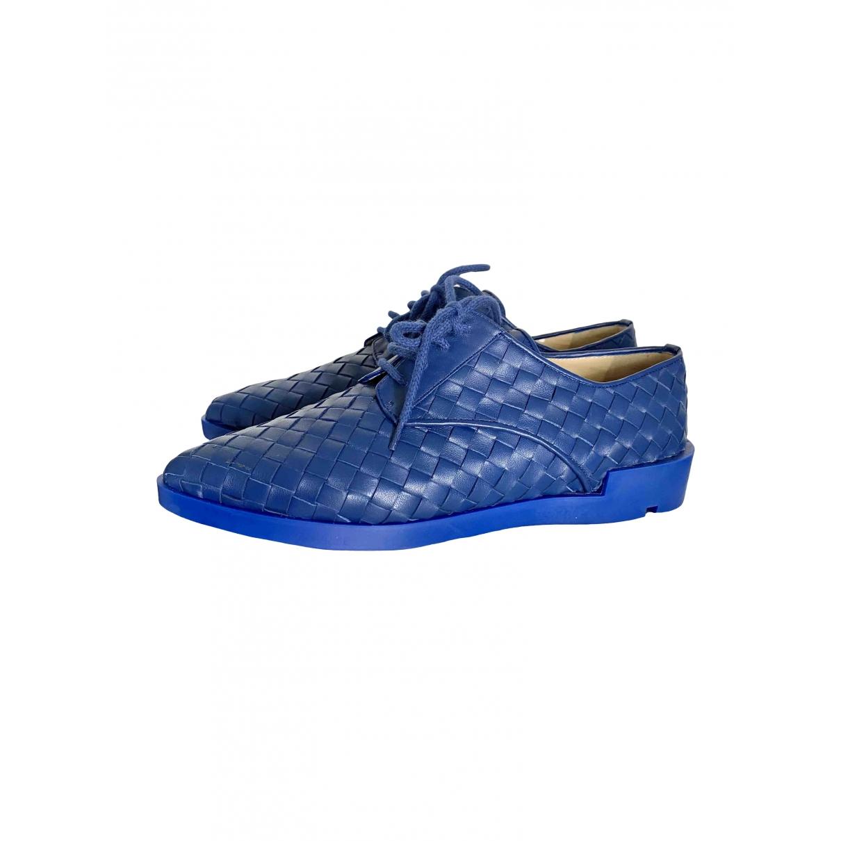 Baldinini \N Blue Leather Flats for Women 38.5 EU