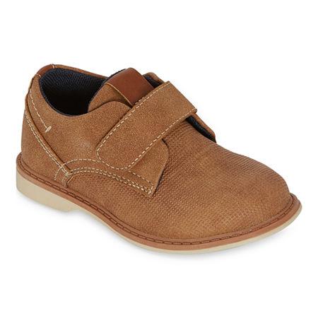 Okie Dokie Little Kids Boys Lil Elliot Oxford Shoes, 9 Medium, Brown