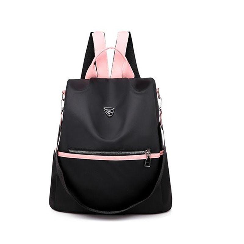 Ericdress Black Color Block Oxford Backpack