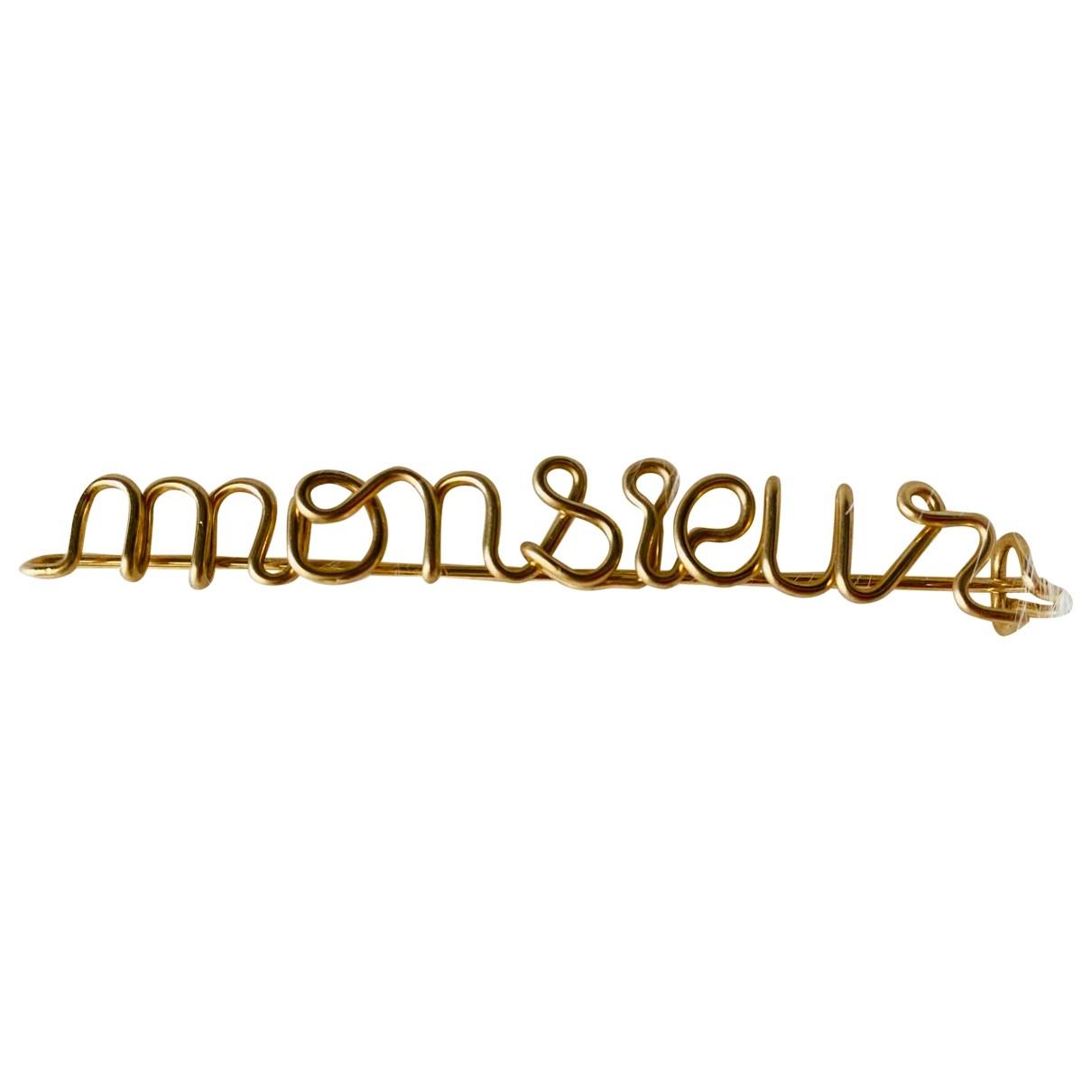 Atelier Paulin - Broche   pour femme en plaque or - dore