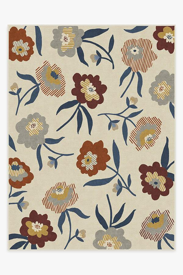 Washable Rug Cover & Pad | Fleur Margaritte Amari Rug | Stain-Resistant | Ruggable | 9x12