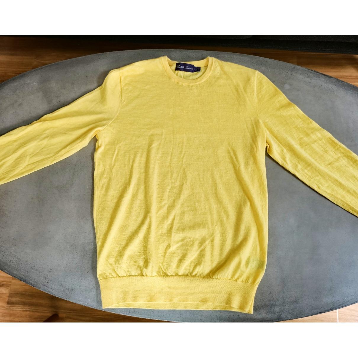 Ralph Lauren Purple Label \N Pullover.Westen.Sweatshirts  in  Gelb Kaschmir