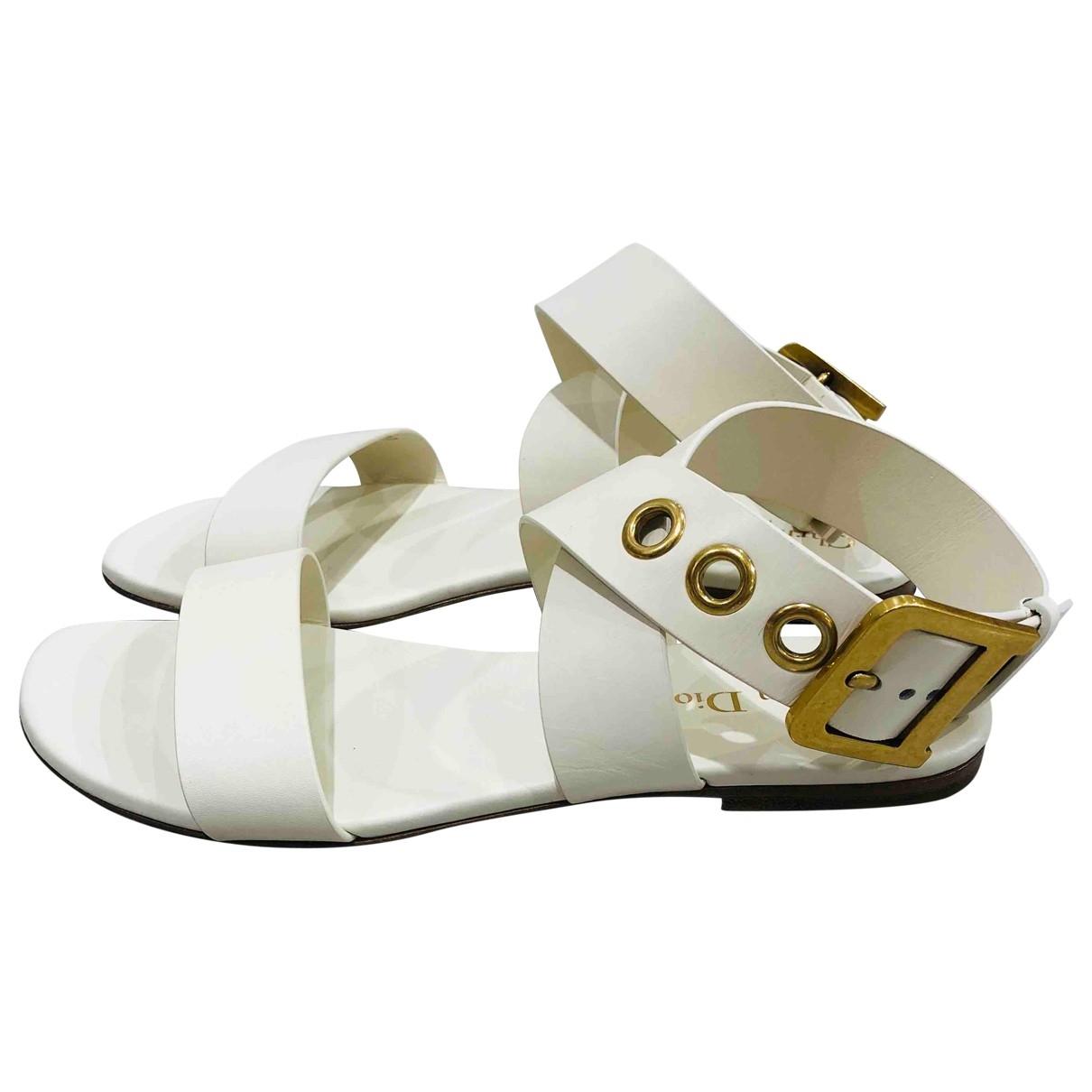 Sandalias romanas New D de Cuero Dior