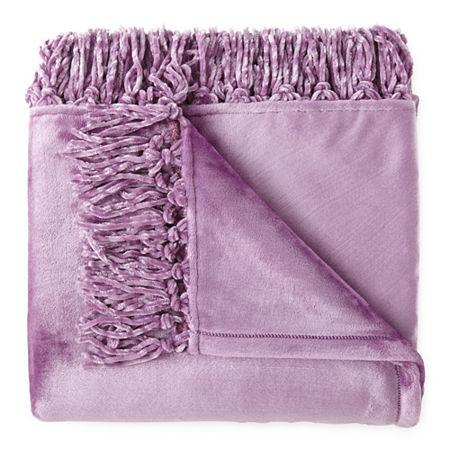 Home Expressions Velvet Plush Plush Throw, One Size , Purple