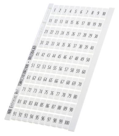 Entrelec , RC Marker Card for Terminal Block (5)