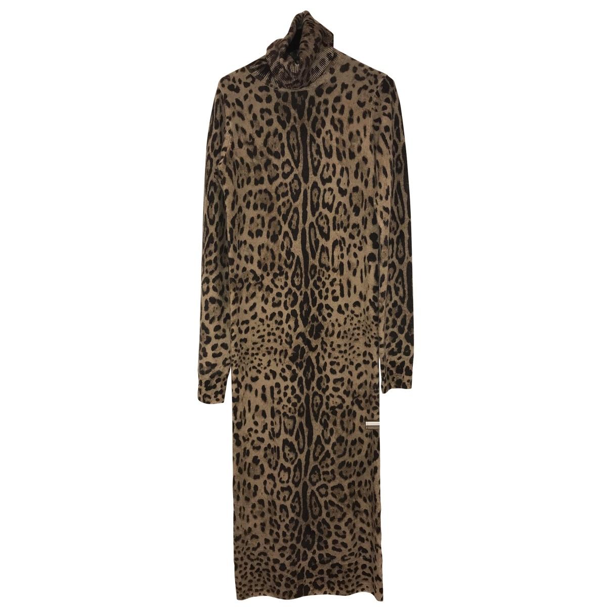 Dolce & Gabbana - Robe   pour femme en cachemire - multicolore
