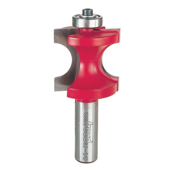 82-512 Half Round Router Bit with Bearing 1/2