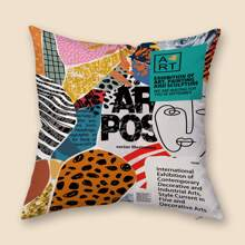 Graphic Print Cushion Cover Without Filler
