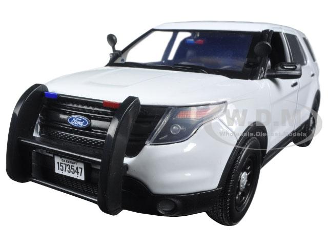 2015 Ford PI Police Utility Interceptor Slick Top White 1/18 Diecast Model Car by Motormax
