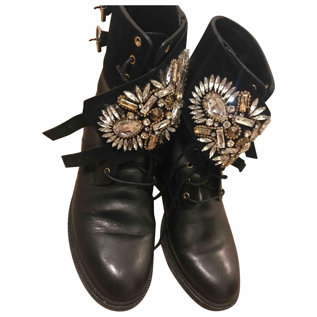 Rene Caovilla \N Black Leather Boots for Women 39 EU