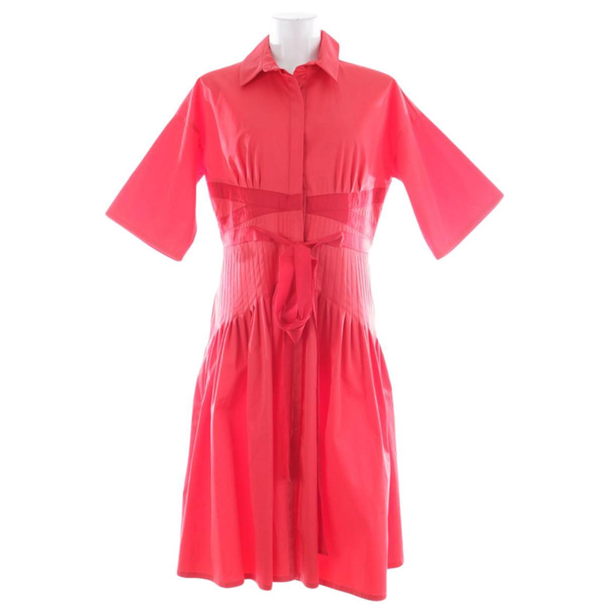 Carolina Herrera \N Red Cotton dress for Women 42 FR