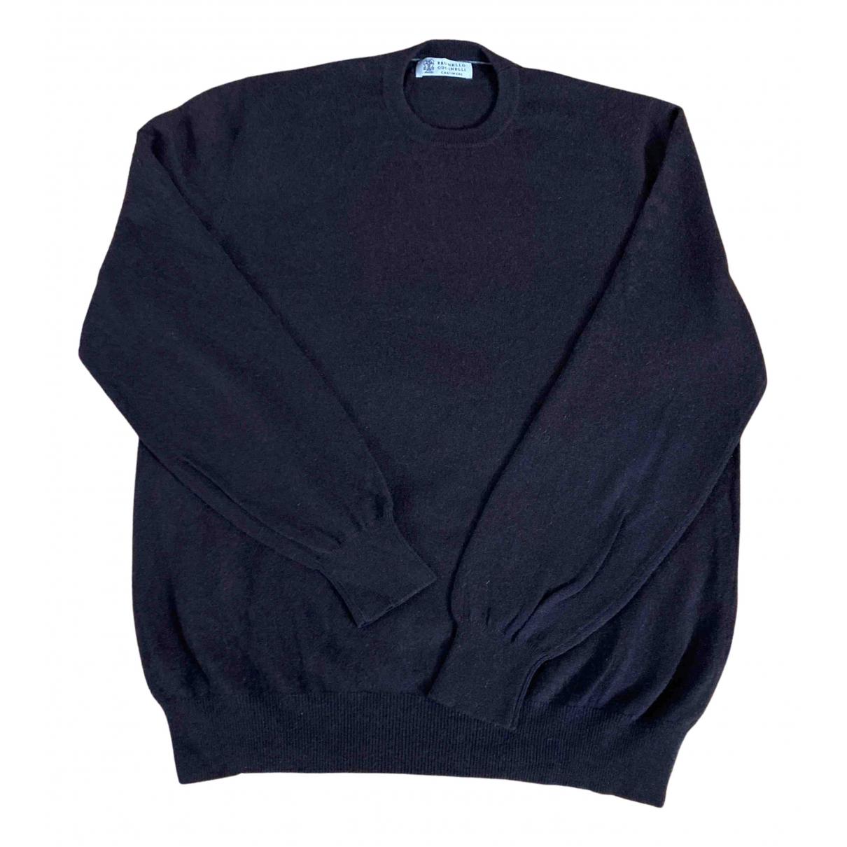 Brunello Cucinelli N Brown Cashmere Knitwear & Sweatshirts for Men 54 IT