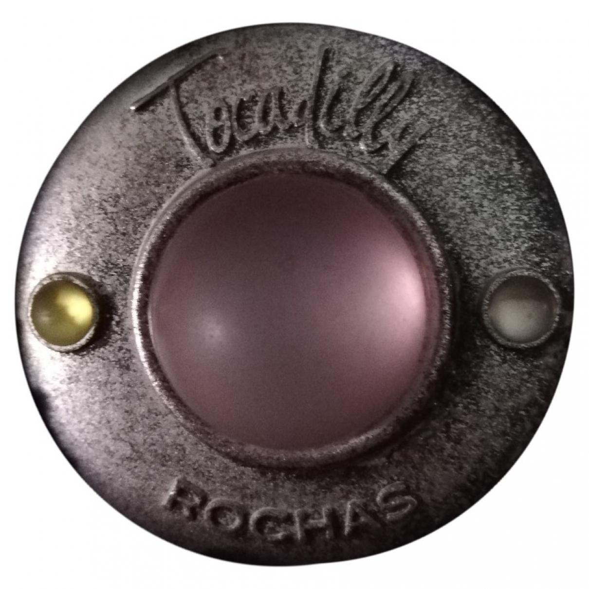 Rochas - Broche   pour femme en metal - argente