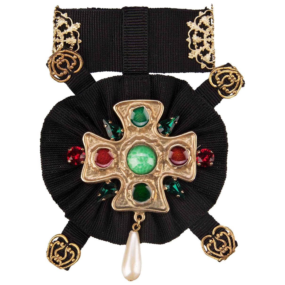Dolce & Gabbana \N Black Metal Pins & brooches for Women \N