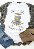 Thanksgiving Pumpkin Juice O-Neck T-Shirt Tee - White