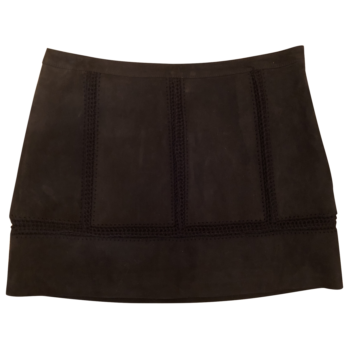 Ramy Brook \N Black Leather skirt for Women 8 US