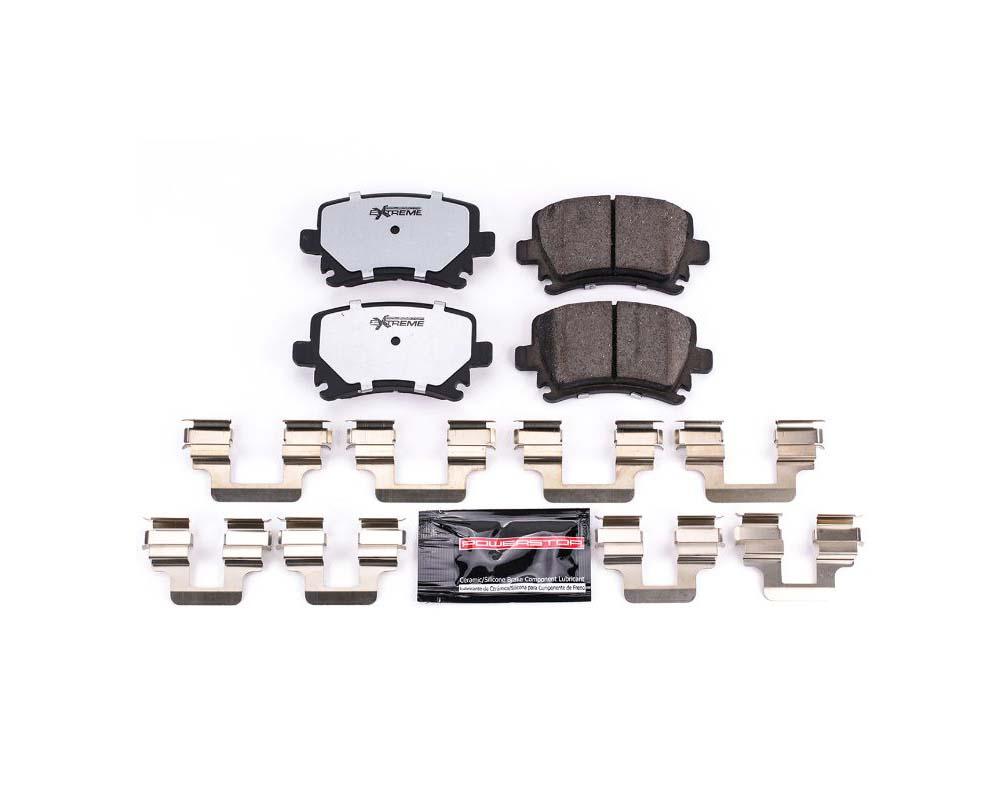 Power Stop Z26-1108 Z26 Extreme Street Brake Pads w/Hardware Rear Audi A3 2006-2009