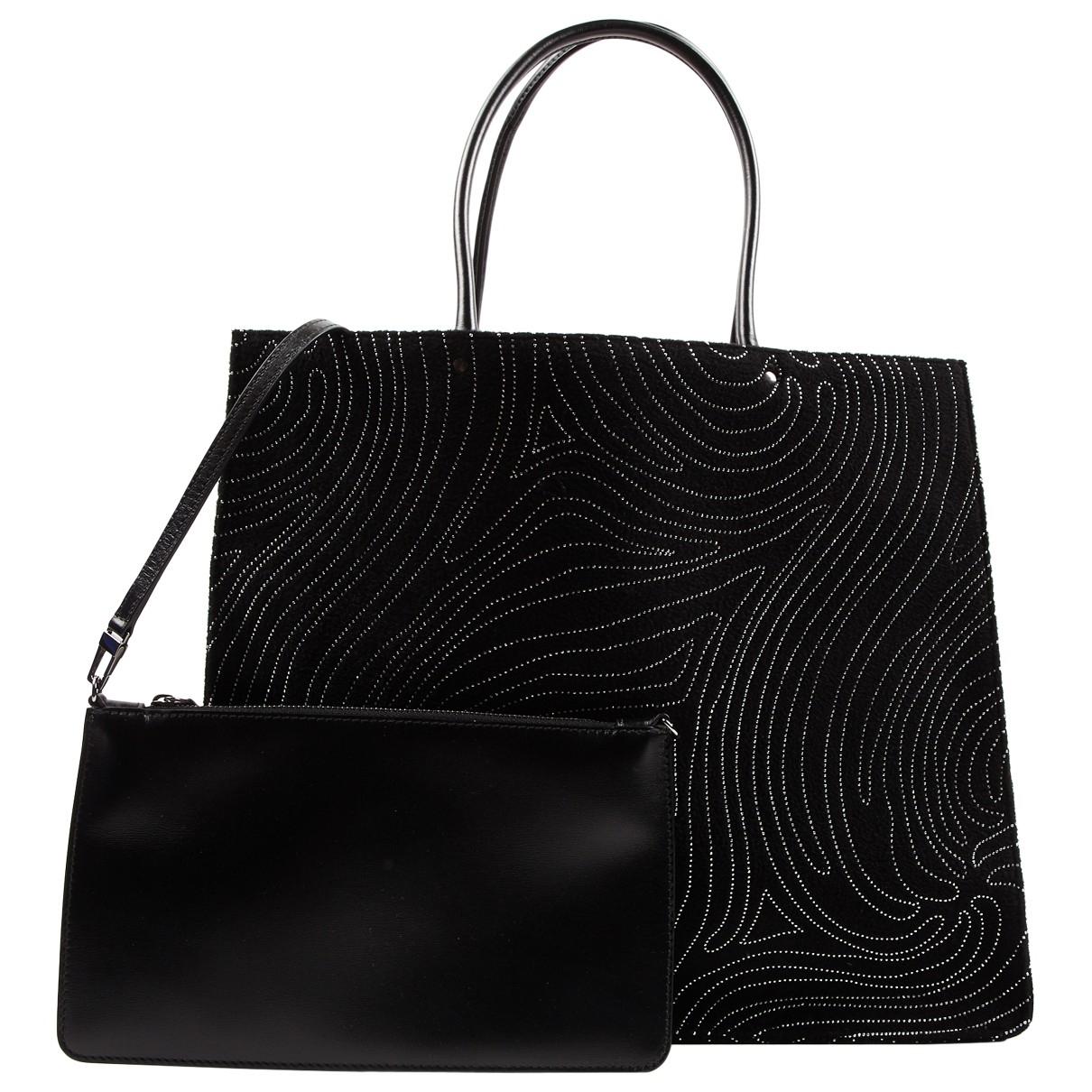 Alaia \N Handtasche in  Schwarz Veloursleder