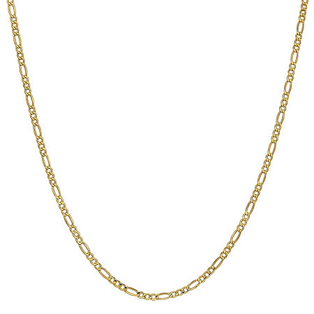 14K Gold 16 Inch Semisolid Figaro Chain Necklace, One Size , No Color Family