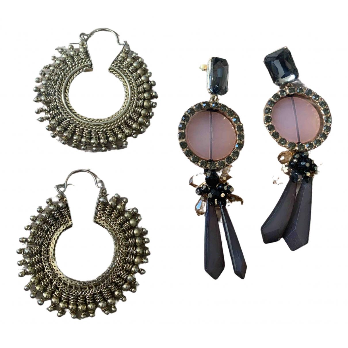 Zara - Boucles doreilles   pour femme en metal - dore