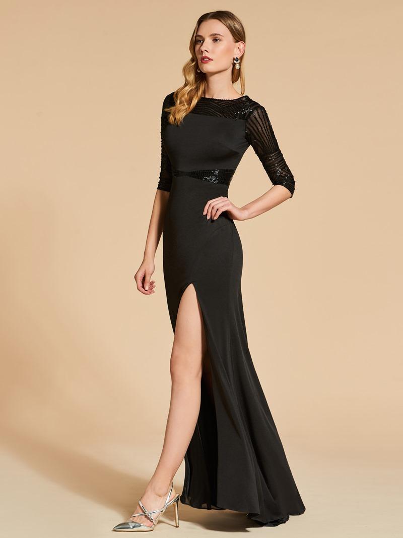 Ericdress Sheath Half Sleeve Beaded Evening Dress