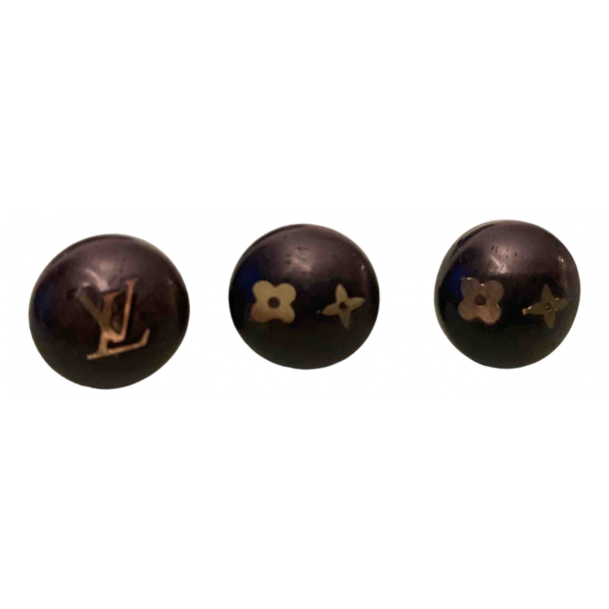 Louis Vuitton - Boucles doreilles Monogram pour femme en metal - marron