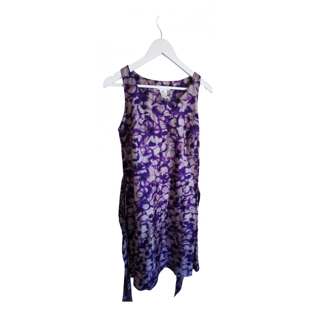 Celine \N Kleid in  Lila Seide