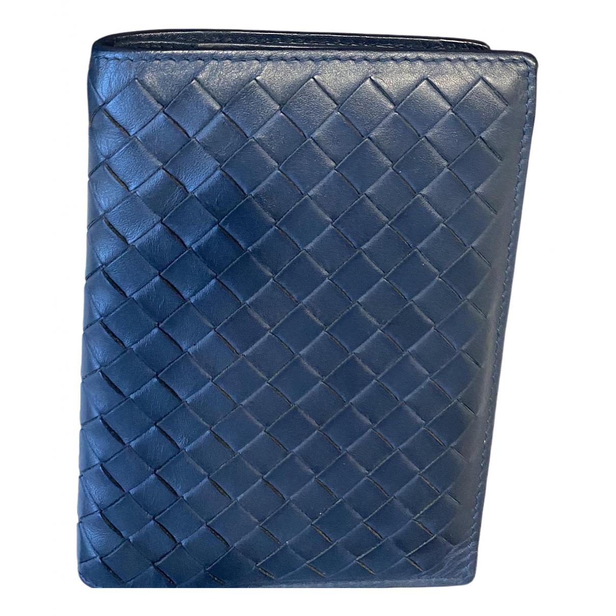 Bottega Veneta \N Navy Leather Small bag, wallet & cases for Men \N