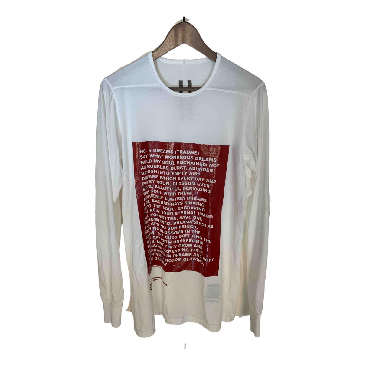 Rick Owens Drkshdw - Tee shirts   pour homme en coton - blanc