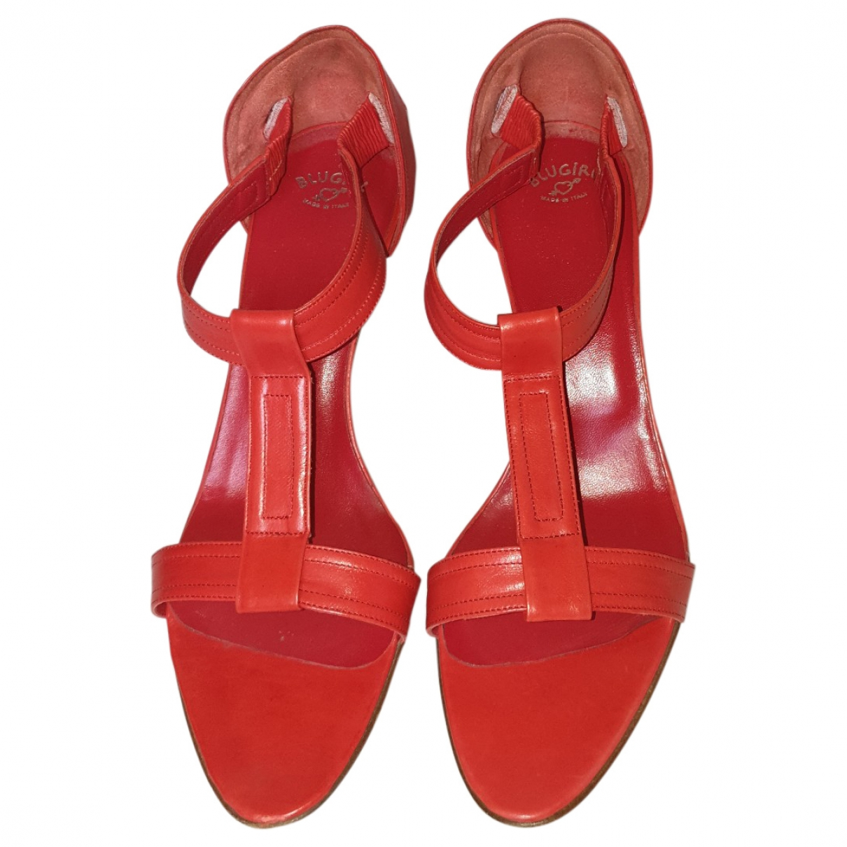 Blumarine \N Red Leather Sandals for Women 37 EU
